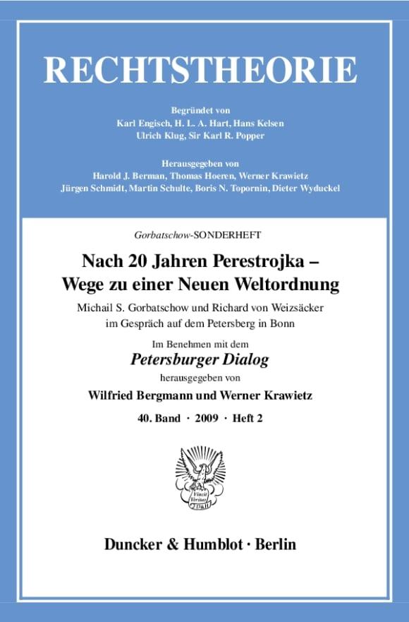 Cover Rechtstheorie. Sonderhefte