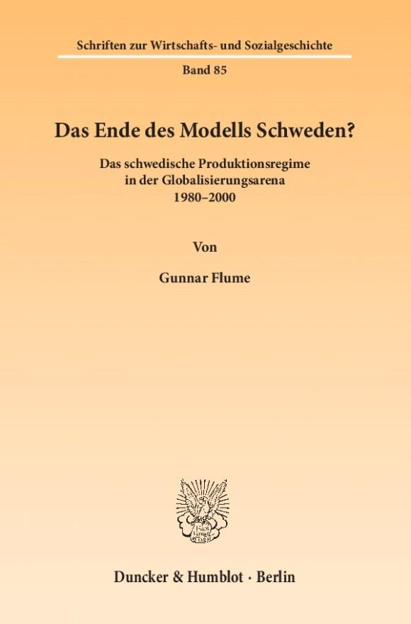 Cover Das Ende des Modells Schweden?