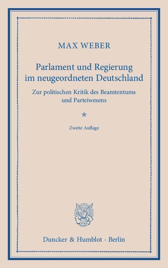 Cover Parlament und Regierung im neugeordneten Deutschland
