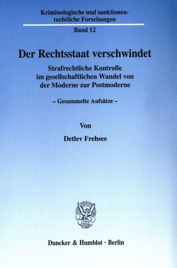 Cover Der Rechtsstaat verschwindet