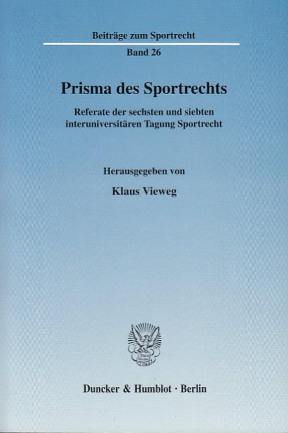 Cover Prisma des Sportrechts
