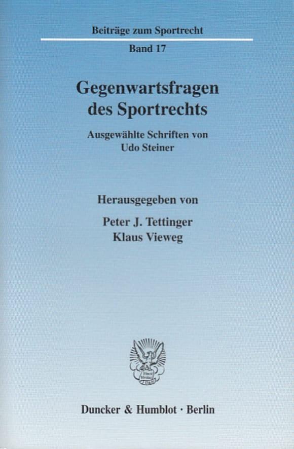 Cover Gegenwartsfragen des Sportrechts