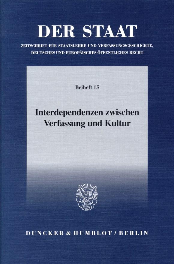 Cover Interdependenzen zwischen Verfassung und Kultur