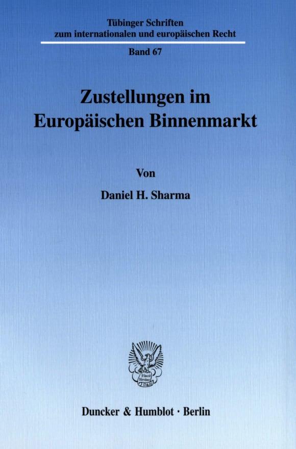 Cover Zustellungen im Europäischen Binnenmarkt