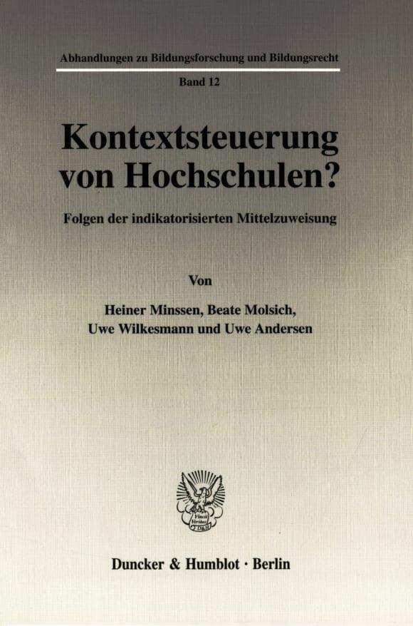 Cover Kontextsteuerung von Hochschulen?