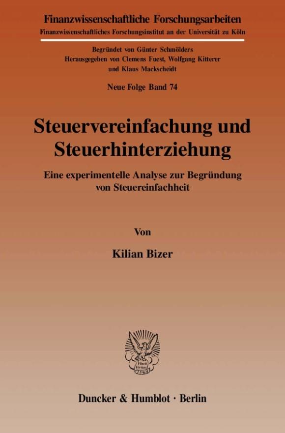 Cover Steuervereinfachung und Steuerhinterziehung