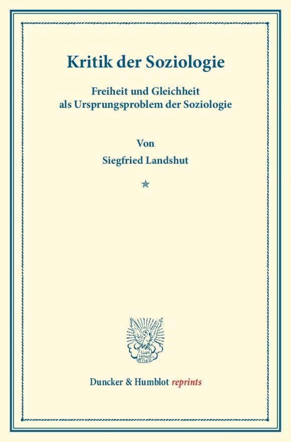 Cover Kritik der Soziologie