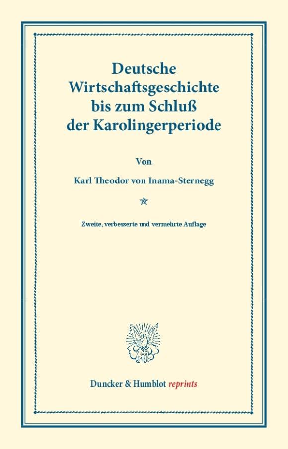 Cover Deutsche Wirtschaftsgeschichte