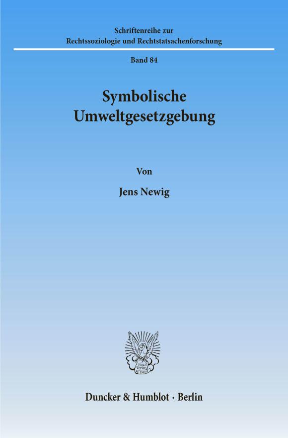 Cover Symbolische Umweltgesetzgebung