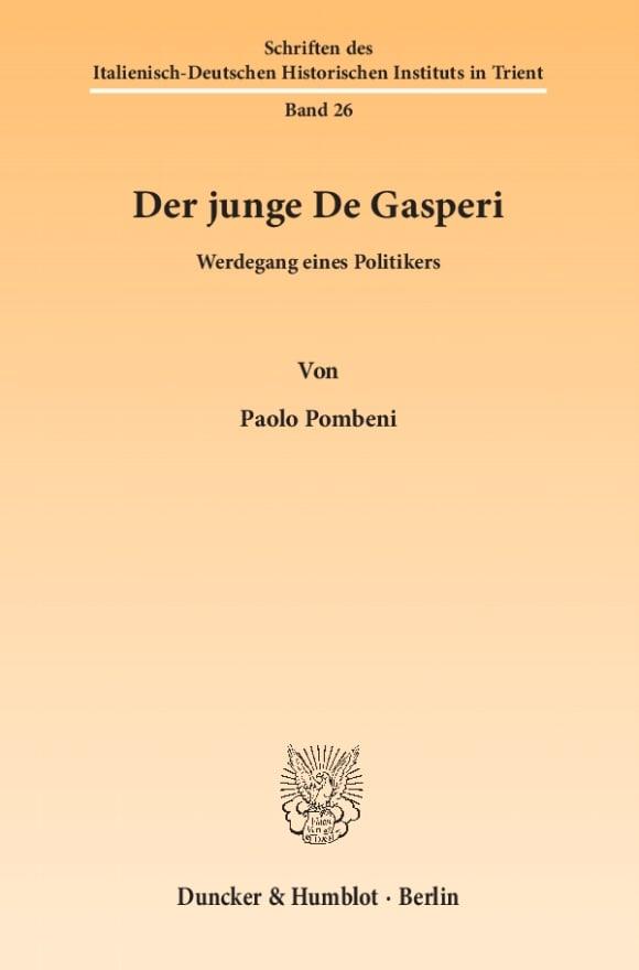 Cover Der junge De Gasperi