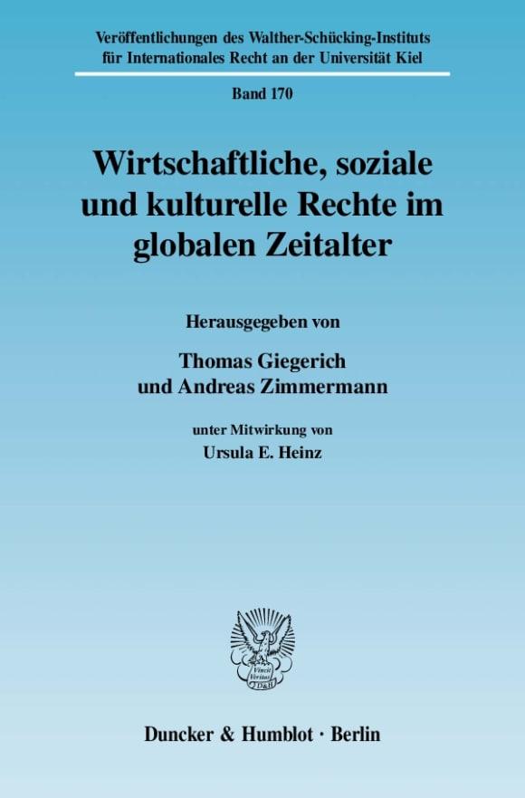 Cover Wirtschaftliche, soziale und kulturelle Rechte im globalen Zeitalter