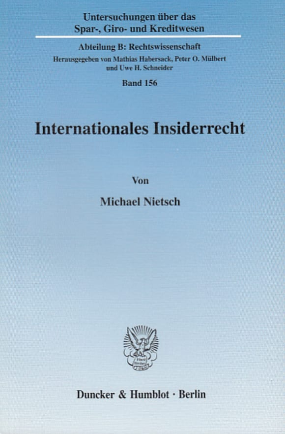 Cover Internationales Insiderrecht