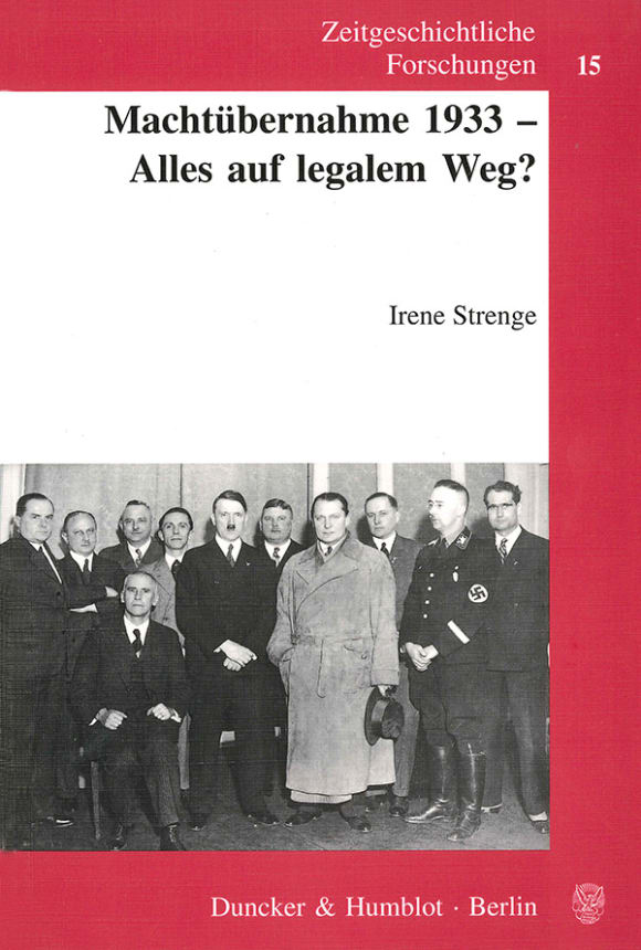 Cover Machtübernahme 1933 - Alles auf legalem Weg?