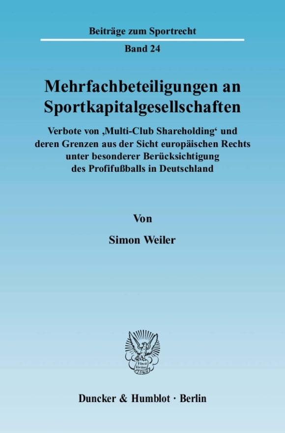 Cover Mehrfachbeteiligungen an Sportkapitalgesellschaften