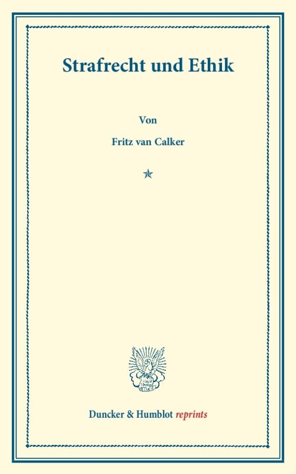 Cover Strafrecht und Ethik
