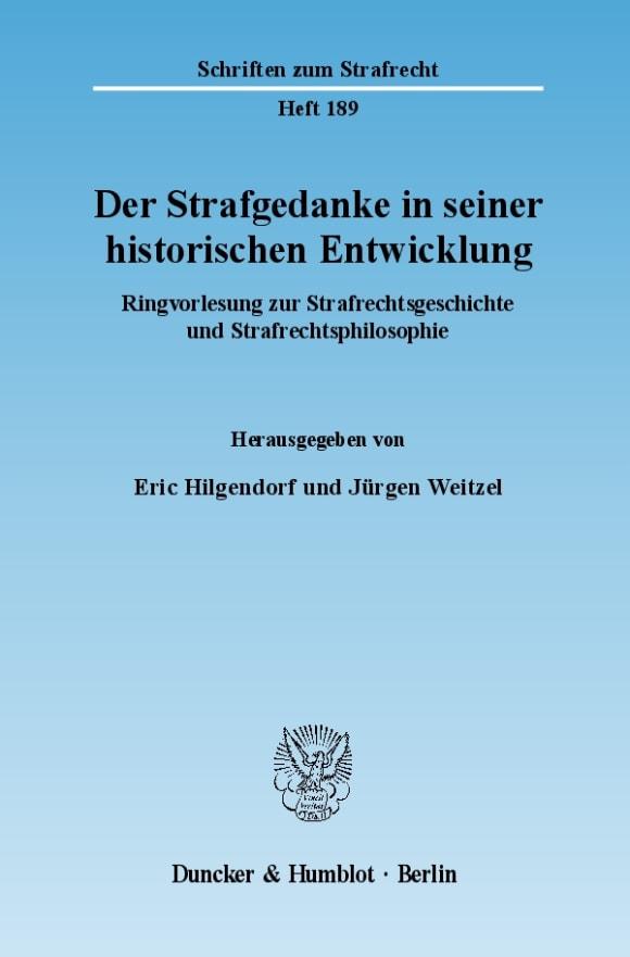 Cover Der Strafgedanke in seiner historischen Entwicklung