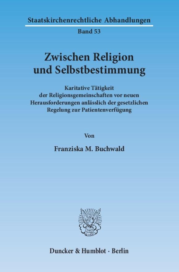 Cover Zwischen Religion und Selbstbestimmung