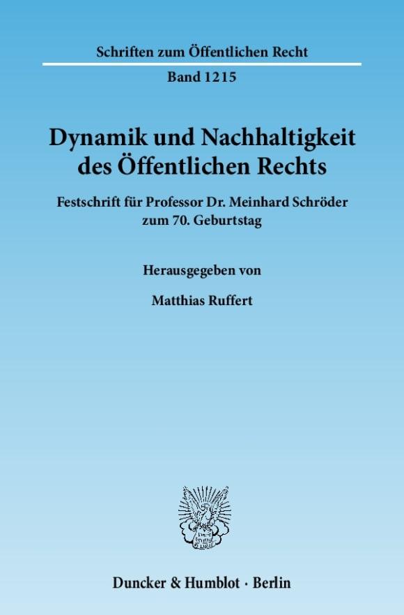 Cover Dynamik und Nachhaltigkeit des Öffentlichen Rechts