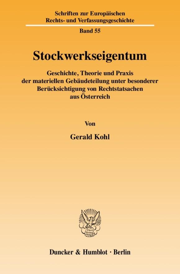 Cover Stockwerkseigentum