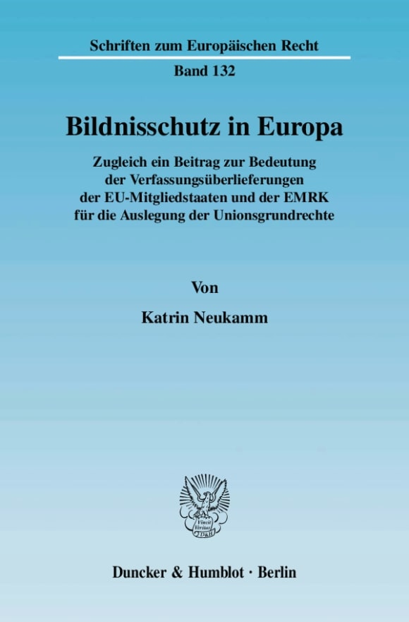 Cover Bildnisschutz in Europa