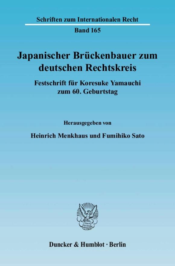 Cover Japanischer Brückenbauer zum deutschen Rechtskreis