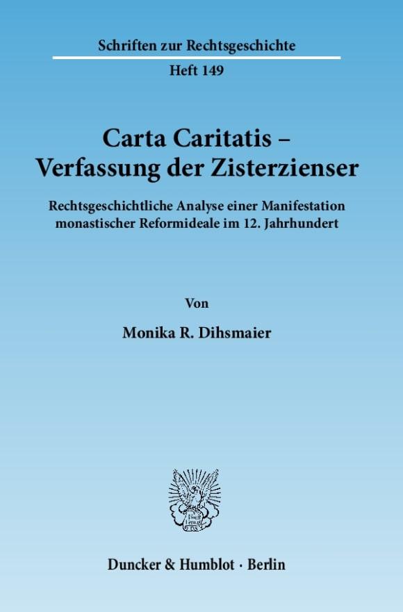 Cover Carta Caritatis - Verfassung der Zisterzienser