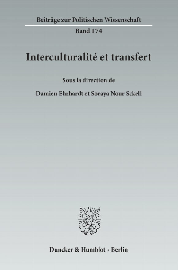 Cover Interculturalité et transfert
