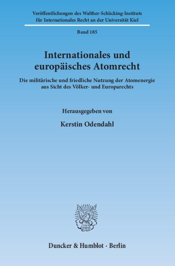 Cover Internationales und europäisches Atomrecht