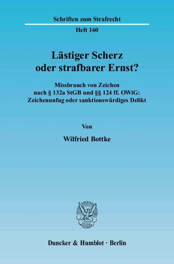 Cover Lästiger Scherz oder strafbarer Ernst?