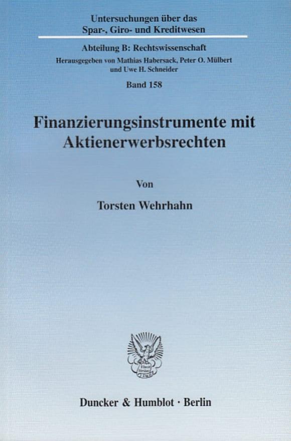 Cover Finanzierungsinstrumente mit Aktienerwerbsrechten