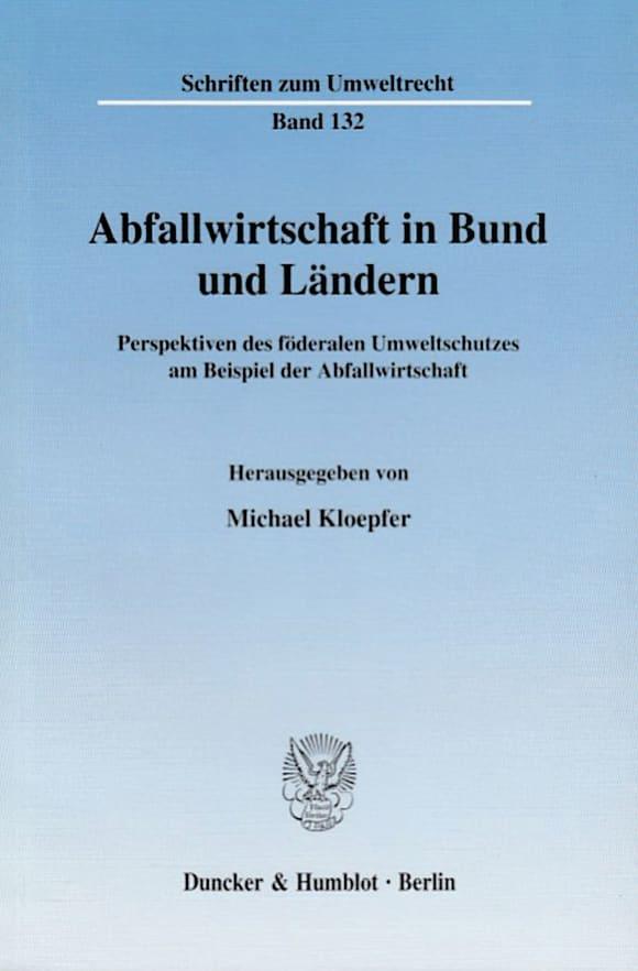 Cover Abfallwirtschaft in Bund und Ländern