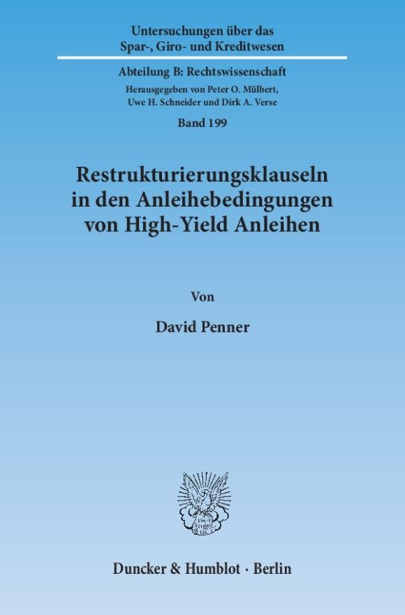 Cover Restrukturierungsklauseln in den Anleihebedingungen von High-Yield Anleihen