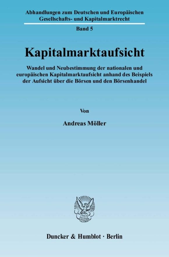 Cover Kapitalmarktaufsicht