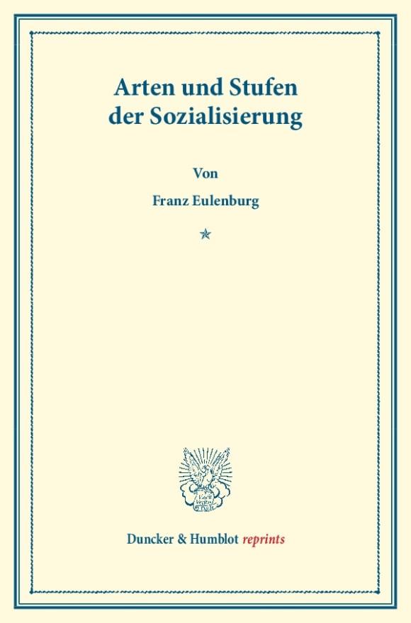 Cover Arten und Stufen der Sozialisierung