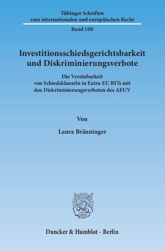 Cover Investitionsschiedsgerichtsbarkeit und Diskriminierungsverbote