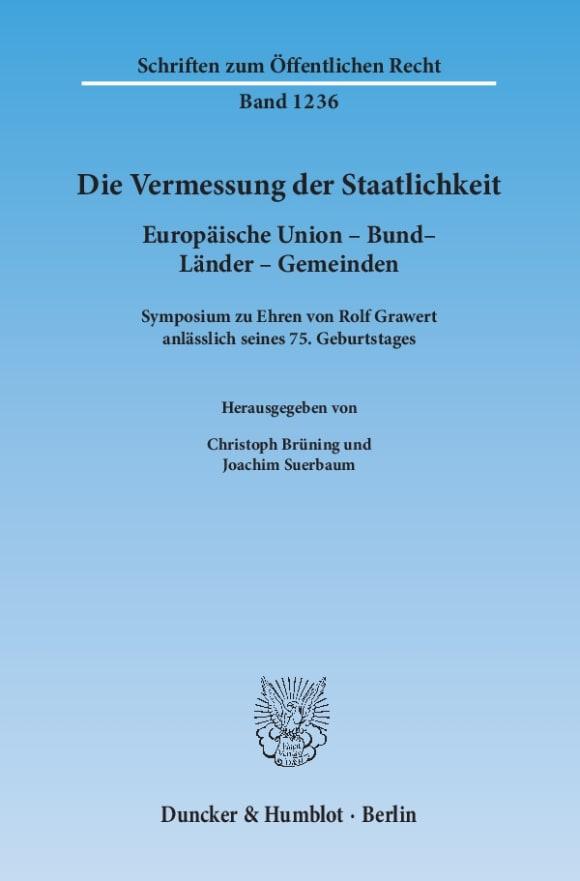 Cover Die Vermessung der Staatlichkeit