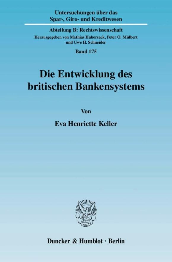 Cover Die Entwicklung des britischen Bankensystems