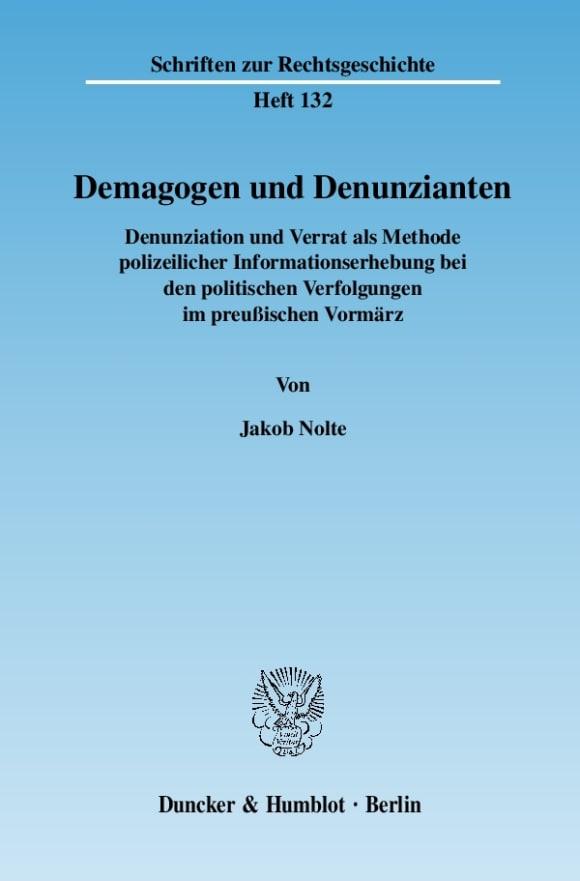 Cover Demagogen und Denunzianten