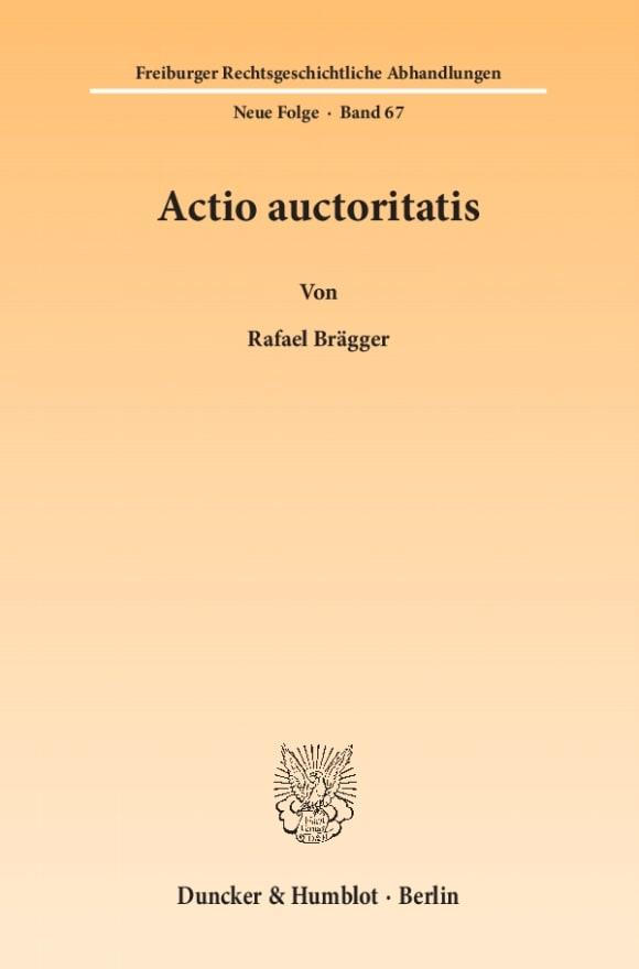 Cover Actio auctoritatis