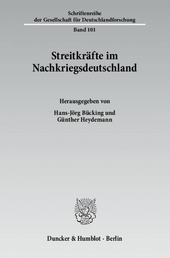 Cover Streitkräfte im Nachkriegsdeutschland