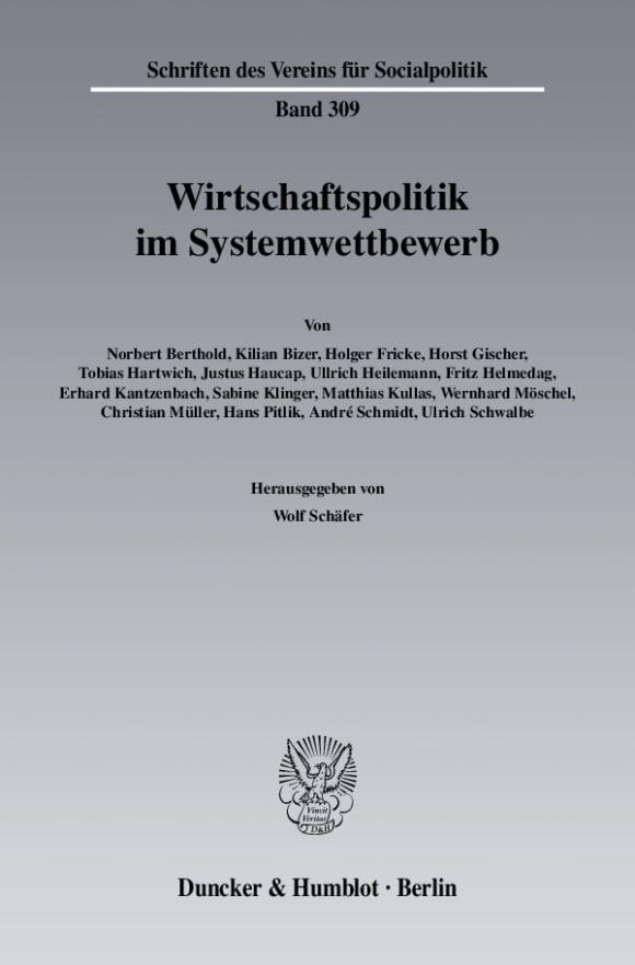 Cover Wirtschaftspolitik im Systemwettbewerb