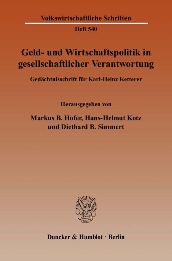 Cover Geld- und Wirtschaftspolitik in gesellschaftlicher Verantwortung