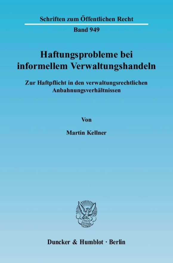 Cover Haftungsprobleme bei informellem Verwaltungshandeln