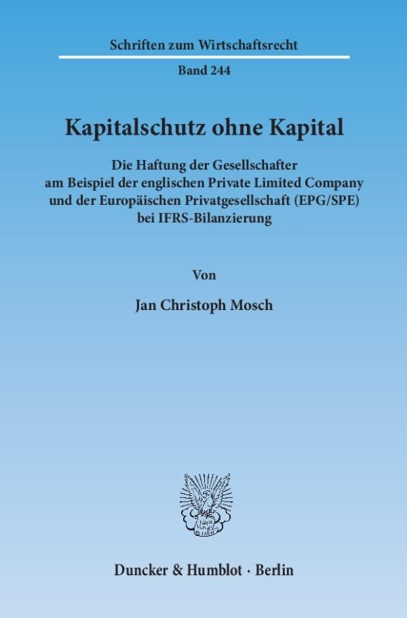 Cover Kapitalschutz ohne Kapital