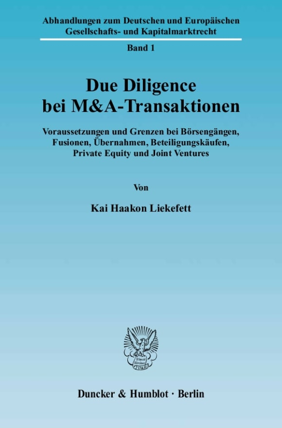 Cover Due Diligence bei M&A-Transaktionen