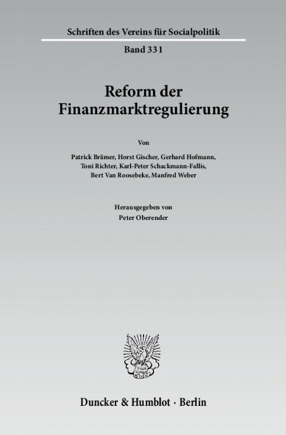 Cover Reform der Finanzmarktregulierung