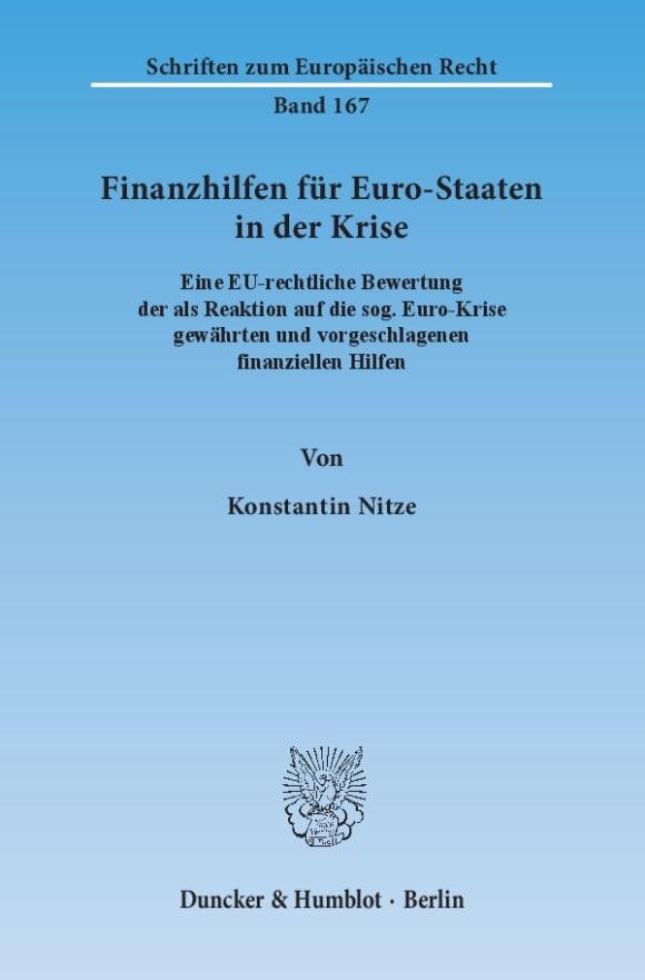 Cover Finanzhilfen für Euro-Staaten in der Krise
