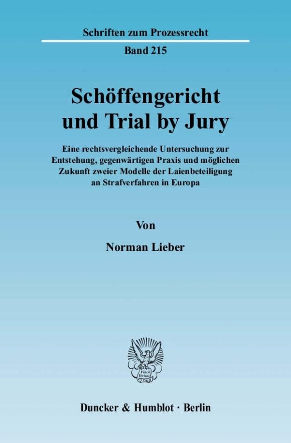Cover Schöffengericht und Trial by Jury