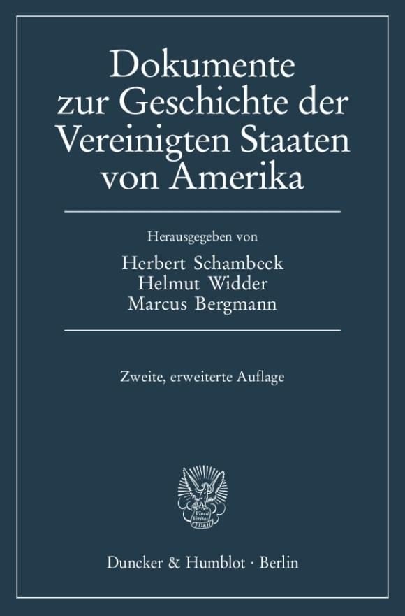 Cover Dokumente zur Geschichte der Vereinigten Staaten von Amerika