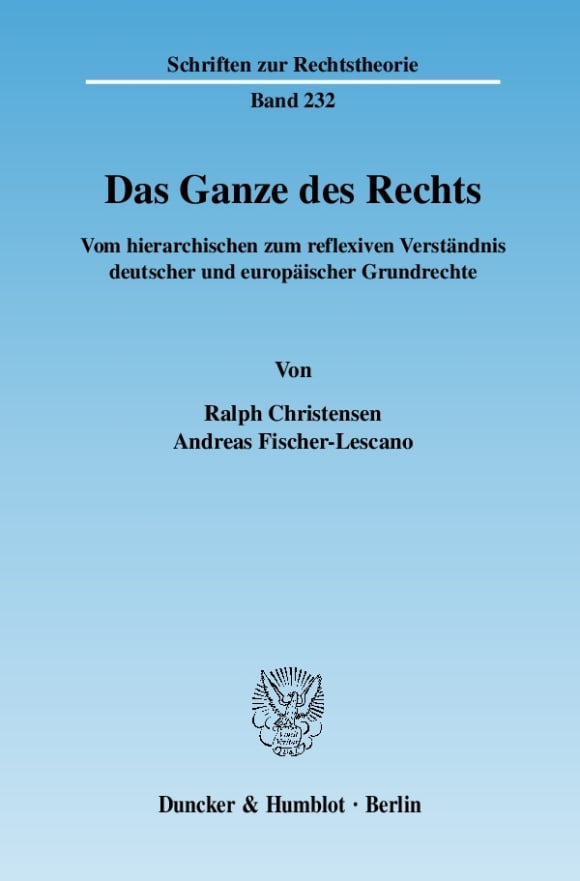 Cover Das Ganze des Rechts